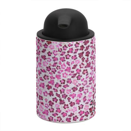 Leopard Skin in Magenta Collection Soap Dispenser