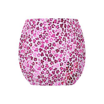 Leopard Skin in Magenta Collection Glass Tealight Holder