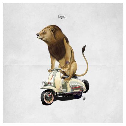 Lamb ~ Title Animal Behaviour Cushion