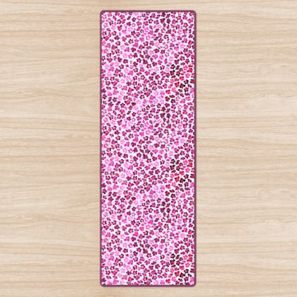 Leopard Skin in Magenta Collection Yoga Mat