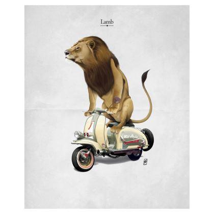 Lamb ~ Title Animal Behaviour Art Postcard