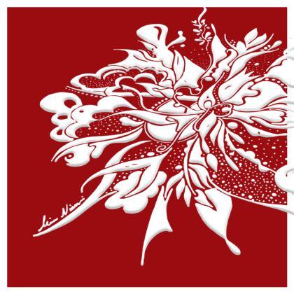 Cushion - Kudde - White ink Grenadine