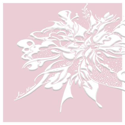 Cushion - Kudde - White ink Ballet Slipper