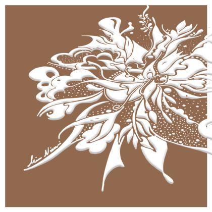Cushion - Kudde -White ink Butterum