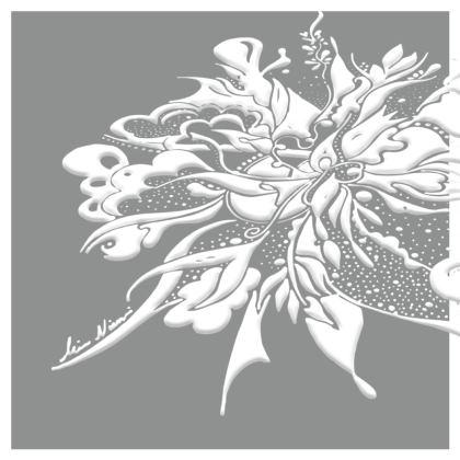 Cushion - Kudde - White ink Neutral Gray