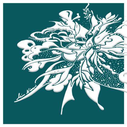 Cushion - Kudde - White ink Shaded Spruce