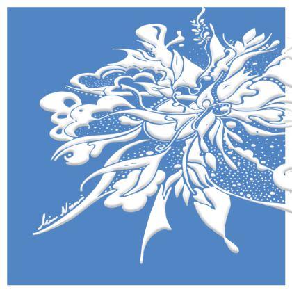 Cushion - Kudde - White ink Marina