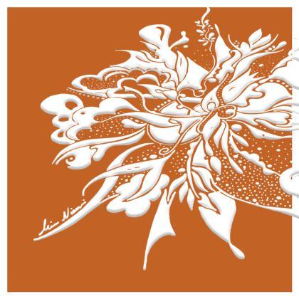 Cushion - Kudde - White ink Autumn Maple