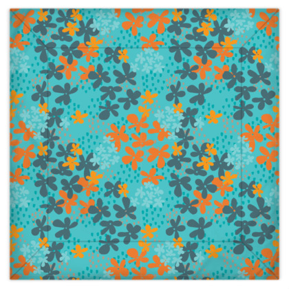Pop Floral Tangerine bedding set