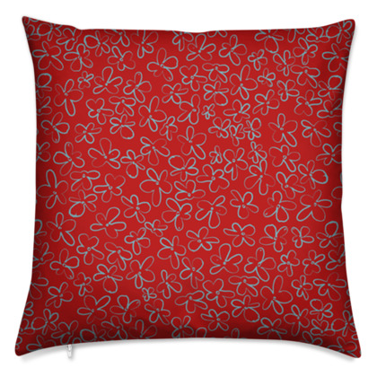 Pop Floral Ruby cushion