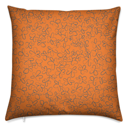 Pop Floral Tangerine cushion