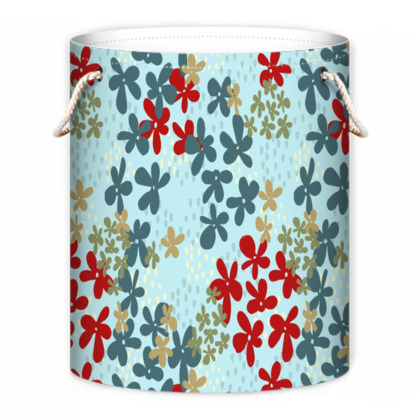 Pop Floral Ruby laundry bag