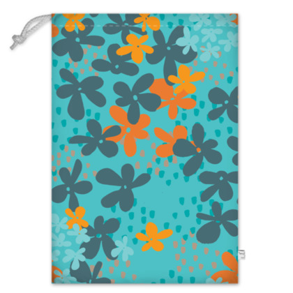 Pop Floral Tangerine toy sack