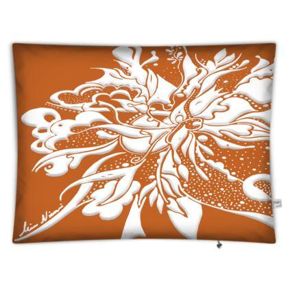 Floor Cushion - Golvkudde - White ink Autumn Maple