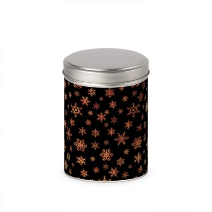 Golden copper snowflakes Christmas pattern on black