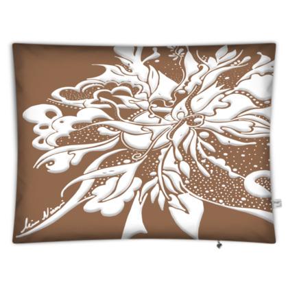 Floor Cushion - Golvkudde -White ink Butterum
