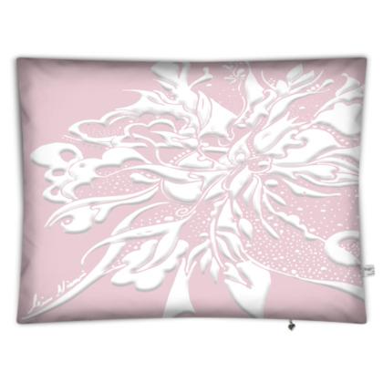 Floor Cushion - Golvkudde - White ink Ballet Slipper