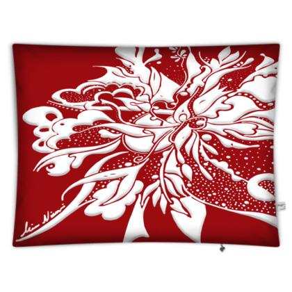 Floor Cushion - Golvkudde - White ink Grenadine
