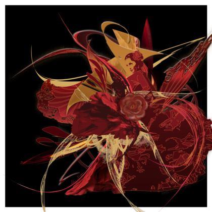 Cushion - Kudde - Flamenco black