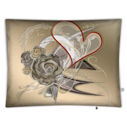 Floor Cushion - Golvkudde - Brown heart brown gradient