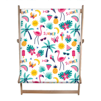 Flamingo Fiesta - Double Deckchair