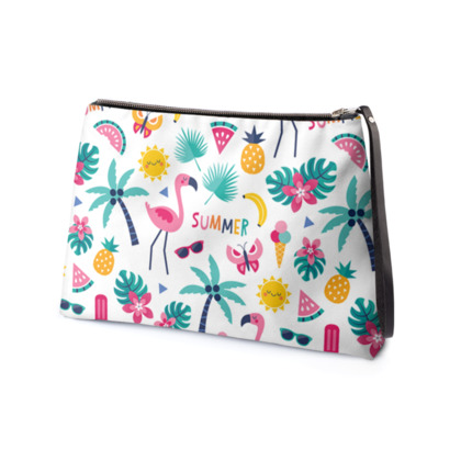Flamingo Fiesta - Clutch Bag