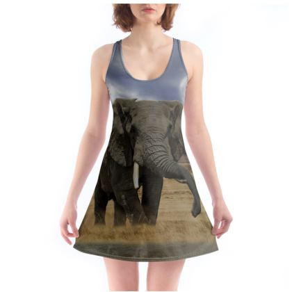 Beach Dress - Savannah Wildlife