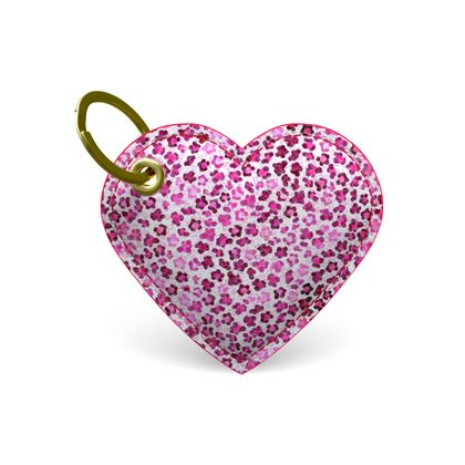 Leopard Skin in Magenta Collection  Premium Painted Edge Keyring