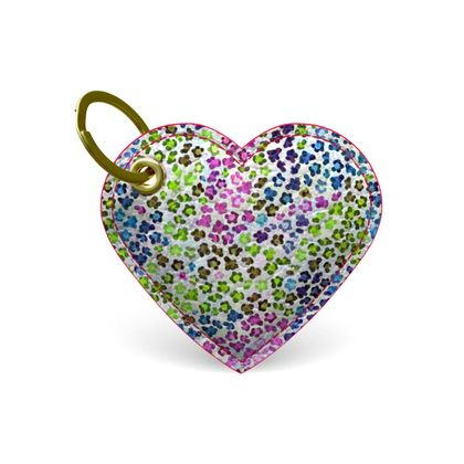Leopard Skin Multicoloured Collection Premium Painted Edge Keyring