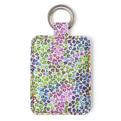 Leopard Skin Multicoloured Collection Leather Keyring