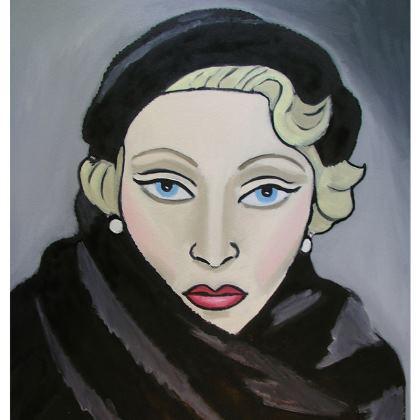 'Falling in love again' Icon cushion