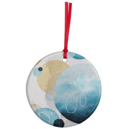 Infinity Coastal Christmas Tree Ornament in Tropical Blue