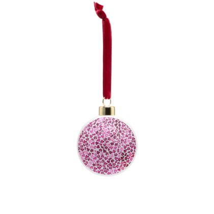 Leopard Skin in Magenta Collection Bone China Baubles