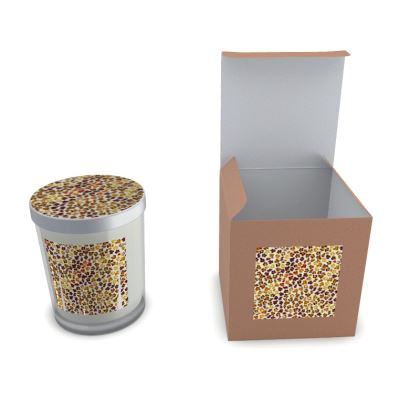 Leopard Skin Collection Set Candle In Glass
