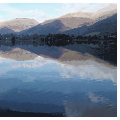 Mens Swimming Shorts - Lake District