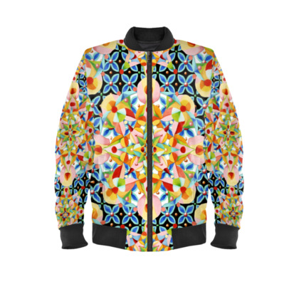 Pastel Mandala Ladies Bomber Jacket