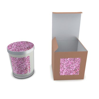 Leopard Skin in Magenta Collection Set Candle In Glass