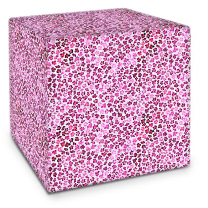 Leopard Skin in Magenta Collection Cube