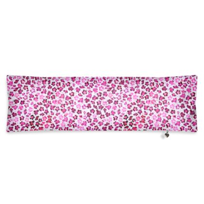 Leopard Skin in Magenta Collection Bolster Cushion