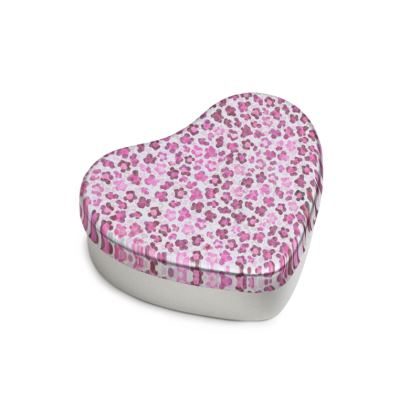 Leopard Skin in Magenta Collection Sweet Heart Tin