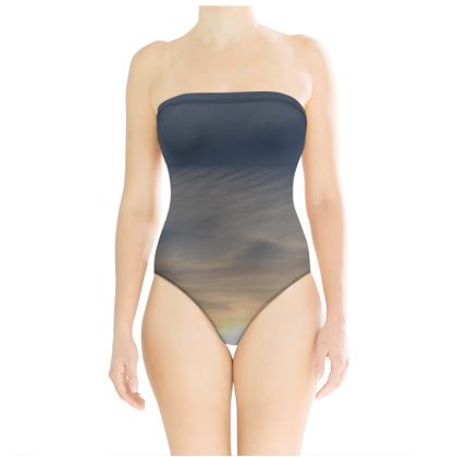 Strapless Swimsuit - Low Sunset