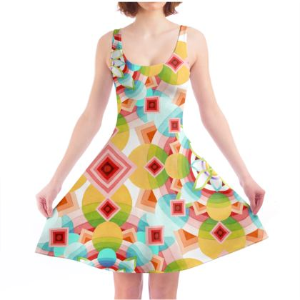 Groovy Ombre Skater Dress