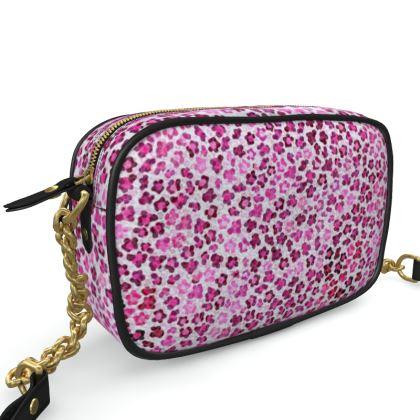 Leopard Skin in Magenta Collection Camera Bag