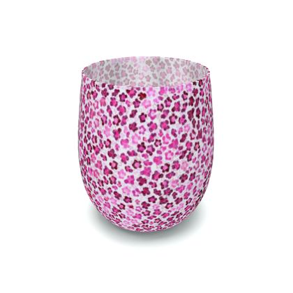 Leopard Skin in Magenta Collection Water Glass