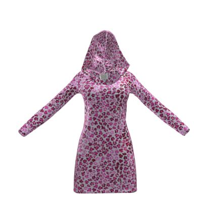 Leopard Skin in Magenta Collection Hoody Dress