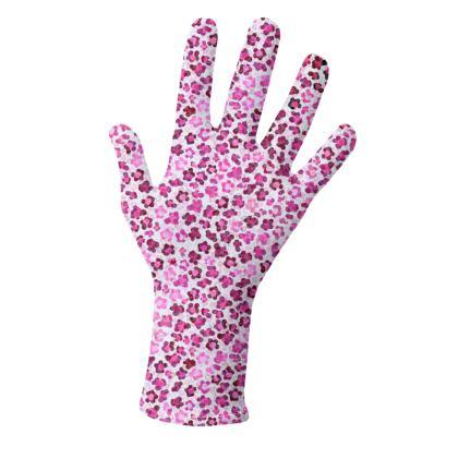 Leopard Skin in Magenta Collection Gloves