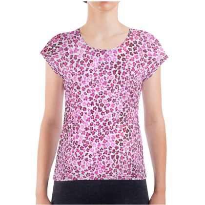Leopard Skin in Magenta Collection Ladies T Shirt