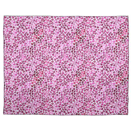 Leopard Skin in Magenta Collection Scarf Wrap Or Shawl