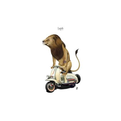 Lamb ~ Title Animal Behaviour Cut and Sew T Shirt