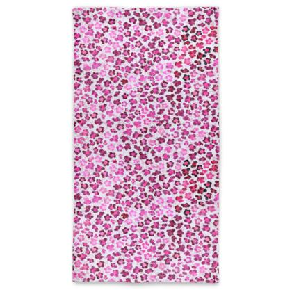 Leopard Skin in Magenta Collection Neck Tube Scarf